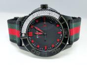 Gucci Brand New Gucci Canvas Strap Diamond Watch 1.85 Ct