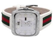 Gucci Mens Gucci Coup White YA131303 Diamond Watch