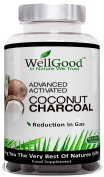 Advanced Activated Coconut Charcoal - 90 Plant Capsules - Vegan Friendly - Additive Free - by WellGood