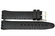 19MM BLACK SOFT SILICONE RUBBER SPORT WATCH BAND STRAP FITS SWATCH S540