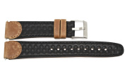 19MM BROWN BLACK PEBBLED DISTRESSED LEATHER WATCH BAND FITS TIMEX EXPEDITION