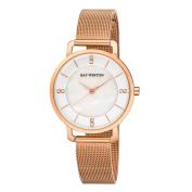 Ray Winton Women's WI0804 MOP Dial Rose Gold Stainless Steel Mesh Bracelet Watch