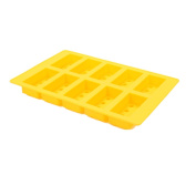 A & R KITCHEN SUPPLY Building Brick Silicone Ice Tray Candy Mould, Yellow