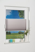 K Home Easyfix Pleated Blind With 'Klemmfix' Clamps (No Drilling Necessary – 60 x 1300 mm (W x L) Grey Sun Protection