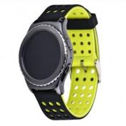 Greatfine 22MM Soft Silicone Wrist Sport Strap Bands for Samsung Galaxy Gear 2 R380 Neo R381 Live R382/Moto 360 2nd 46mm/LG G Watch W100/W110/Urbane Smart Watch