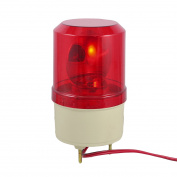Unique Bargains Unique Bargains Red Rotating Flashing Light Signal Tower Industrial Lamp DC 24V 5W