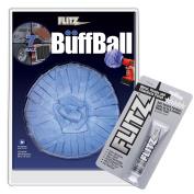 FLITZ BUFF BALL X-LARGE BLUE 18cm DIAMETER WITH 50ml TUBE