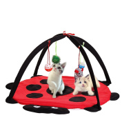 Tutoy Pet Cat Play Bed Activity Tent Playing Toy Exercise Kitten Pad Mat Bells House
