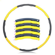 SF-World FitnessWave Weighted 1.2kgs Fitness Exercise Hula Hoop - Yellow/ Grey