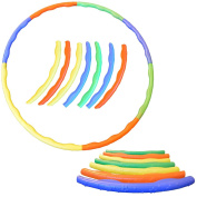 """FunkyBuys® 8pc Quality Adults Kids Multicolor Small Large Hula Hoops DIA:64cm (25"""" Inches) Sporting Good Fitness Weighted"""