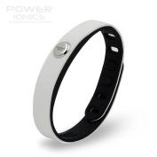 Power Ionics® Titanium Magnetic Bracelet, Energy Wrist, Unisex, Waterproof, Multi-purpose, Smart Sport Wristband, Prism Titanium Germanium PT066, Fits wrist 15-23 cm, width 1,5-2cm, colour White/Black
