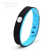Power Ionics® Titanium Magnetic Bracelet, Energy Wrist, Unisex, Waterproof, Multi-purpose, Smart Sport Wristband, Prism Titanium Germanium PT066, 3000 ions Fits wrist 15-23 cm, width 1,5-2cm, colour Black/Blue