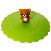 DIYJewelryDepot Rilakkuma Japanese Bear Suction Cup Lid Mug Cover for Party Cups & Kitchen Use