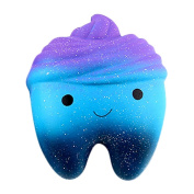 huichang Galaxy Teeth Cake Scented Squishy Slow Rising Squeeze Jumbo Toys