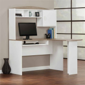 Mainstays L-Shaped Desk with Hutch, Multiple Colours
