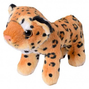 te-trend Stuffed Toy Leopard leopardenbaby Cuddly Toy 16cm Standing Brown