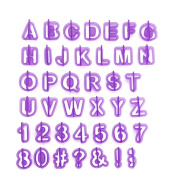 Skedee 40 Pcs Alphabet Letters Cake Mould Number Chocolate Cutters Nonation Cookies Tools.