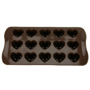 Vikenner 15 Cavity Heart Shaped Silicone Fondant Moulds Cake Jelly Ice Cupcake Chocolate Baking Moulds DIY Decorating Tools