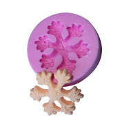 BEAUTY'S CASTLE DIY 3D Smowflake Cake Silicone Mould,Handmade Soap Mould,Cake Mould Decorating,Fondant Baking Tool