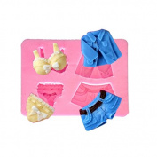 BEAUTY'S CASTLE DIY 3D Sexy Clothes Suit Silicone Mould,Handmade Soap Mould,Cake Mould Decorating,Fondant Baking Tool