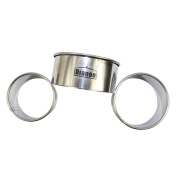 "Dianoo 3PCS Stainless Steel Round Baking Mould, Round Food Ring, Cake Ring Moulds - 2.36"" (6cm), 2.76"" (7cm) and 3.15"""
