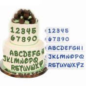 Kit 5 Letters Numbers Stencil Mask Cake Decoration Cake Cake Design