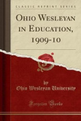 Ohio Wesleyan in Education, 1909-10