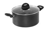 Stoneline 17795 Cooking Pot 20 cm Ceramic Coating Suitable for Induction Cooking Pot – Aluminium Black 19.9 x 19.9 x 9.9 cm 2 Units