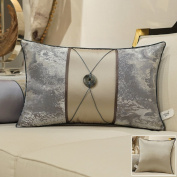 Decorative pillowcase chinese style bedside cushions living room sofa pillow simple, invisible zipper-B 50x50cm(20x20inch)Version A