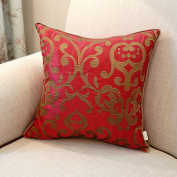Pillowcase red embroidery european bedside cushion cover decorative pillow-C 30x42cm(12x17inch)Version A