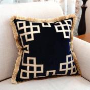 Decorative pillowcase european velvet pillow tassel sofa cushions home decoration-C 50x50cm(20x20inch)Version A