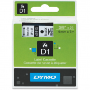 DYMO D1 Standard Tape Cartridge for Dymo Label Makers, 1cm x 7m, Black on White