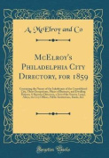 McElroy's Philadelphia City Directory, for 1859
