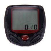 15-Functions Bicycle LCD Computer Waterproof Cycling Odometer Speedometer