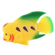 Unique Bargains Green Yellow Plastic Imitated Fish Tank Aquatic Fish Decor