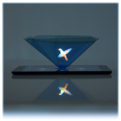 CoCreators 360 Virtual Reality 3D Holographic Projection Pyramid with Suction cup for any Tablet