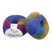 Chunky Yarn Wool , YOYOUG 1pc 50g Soft Chunky Hand-woven Rainbow Colourful Knitting Scores Wool Blend Yarn Mixed Colour Soft,Comfortable,Can Be Worn Next To The Skin,Suitable For Children