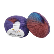 Knitting Yarn , YOYOUG 1pc 50g Chunky Hand-woven Rainbow Colourful Knitting Scores Wool Blend Yarn Mixed Colour