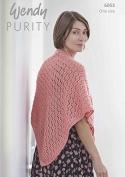 Wendy Ladies Shawl Purity Knitting Pattern 6053 Aran