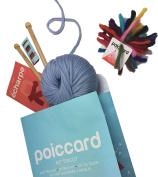 Kit Starter Knitting Knit Chunky Yarn Scarf Azure - 15 mm Needles