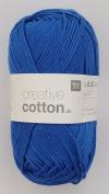 RICO CREATIVE COTTON DK HAND KNITTING YARN - 50g 12 Royal Blue