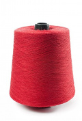 Flaxen Europe 100% Linen Yarn Cone - 2.700 metres - 12x12x16 cm - 0,5 KG (1 LBS) - Twisted from 3 PLY - Red - Pure Flax Thread For Hand and Machine Sewing, Weaving, Crochet, Embroidering