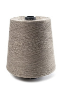Flaxen Europe 100% Linen Yarn Cone - Grey - 2.700 metres - 12x12x16 cm - 0,5 KG (1 LBS) - Twisted from 3 PLY - NATURAL LINEN colour - Pure Flax Thread