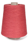 Flaxen Europe 100% Linen Yarn Cone - 2.700 metres - 12x12x16 cm - 0,5 KG (1 LBS) - Twisted from 3 PLY - Peony Red - Pure Flax Thread For Hand and Machine Sewing, Weaving, Crochet, Embroidering