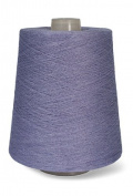 Flaxen Europe 100% Linen Yarn Cone - 2.700 metres - 12x12x16 cm - 0,5 KG (1 LBS) - Twisted from 3 PLY - Lavender Purple - Pure Flax Thread For Hand and Machine Sewing, Weaving, Crochet, Embroidering