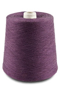 Flaxen Europe 100% Linen Yarn Cone - 2.700 metres - 12x12x16 cm - 0,5 KG (1 LBS) - Twisted from 3 PLY - Reddish Purple Colour - Pure Flax Thread For Hand and Machine Sewing, Weaving, Crochet, Embroidering