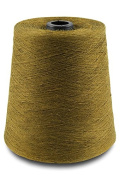 Flaxen Europe 100% Linen Yarn Cone - 2.700 metres - 12x12x16 cm - 0,5 KG (1 LBS) - Twisted from 3 PLY - Golden Brown Colour - Pure Flax Thread For Hand and Machine Sewing, Weaving, Crochet, Embroidering
