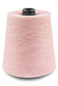 Flaxen Europe 100% Linen Yarn Cone - 2.700 metres - 12x12x16 cm - 0,5 KG (1 LBS) - Twisted from 3 PLY - Pink - Pure Flax Thread For Hand and Machine Sewing, Weaving, Crochet, Embroidering