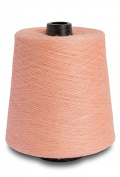 Flaxen Europe 100% Linen Yarn Cone - 2.700 metres - 12x12x16 cm - 0,5 KG (1 LBS) - Twisted from 3 PLY - Pastel Pinkish - Pure Flax Thread For Hand and Machine Sewing, Weaving, Crochet, Embroidering
