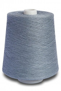 Flaxen Europe 100% Linen Yarn Cone - 2.700 metres - 12x12x16 cm - 0,5 KG (1 LBS) - Twisted from 3 PLY - Bluish Grey - Pure Flax Thread For Hand and Machine Sewing, Weaving, Crochet, Embroidering